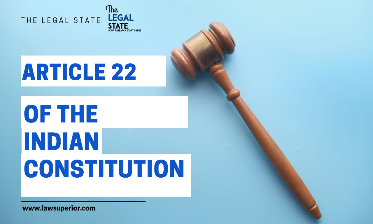 Article 22 of the Constitution of India
